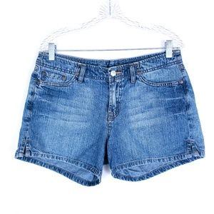 Lucky Brand Jean Shorts Mid Rise Size 10 ( 32x4)